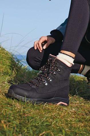 Black Performance Waterproof Active Hiker Boots