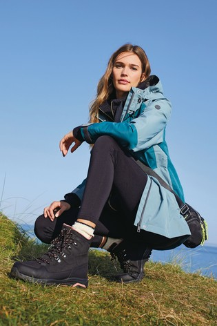 Teal Colourblock Waterproof Jacket
