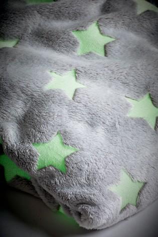 Glow in the Dark Fleece Star Throw