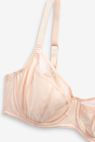 Black/Nude DD+ Non Pad Full Cup Bras 2 Pack