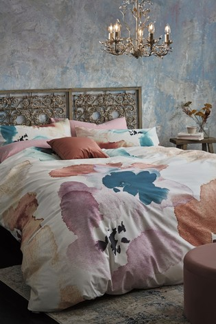 Harrogate Abstract Floral Reversible Duvet Cover And Pillowcase Set