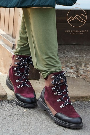Burgundy Performance Waterproof Signature Leather Hiker Boots