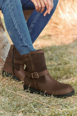 Brown Performance Waterproof Signature Leather Ankle Equestrian Boots
