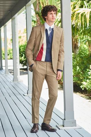 Stone Jacket Cotton Slim Fit Suit
