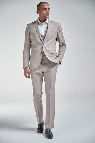 Taupe Jacket Slim Fit Suit