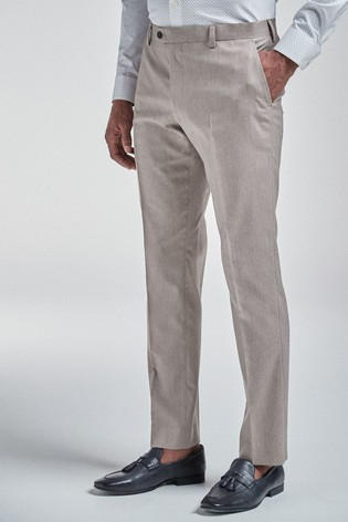 Taupe Trousers Slim Fit Suit