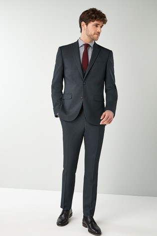 Navy Skinny Fit Puppytooth Suit: Jacket
