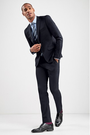 Navy Skinny Fit Stretch Tonic Suit: Jacket