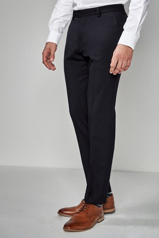 Navy Skinny Fit Stretch Tonic Suit: Trousers