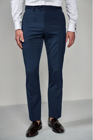 Bright Blue Regular Fit Stretch Tonic Suit: Trousers