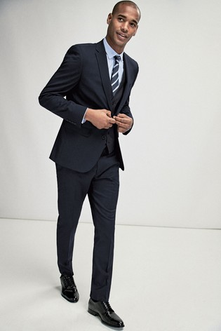 Navy Slim Fit Stretch Tonic Suit: Jacket