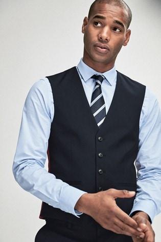 Navy Stretch Tonic Suit: Waistcoat