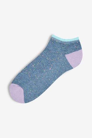 Brights Cushion Sole Trainer Socks Five Pack