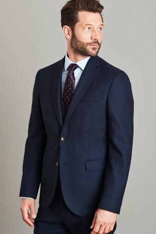 Navy Jacket Signature Birdseye Slim Fit Suit