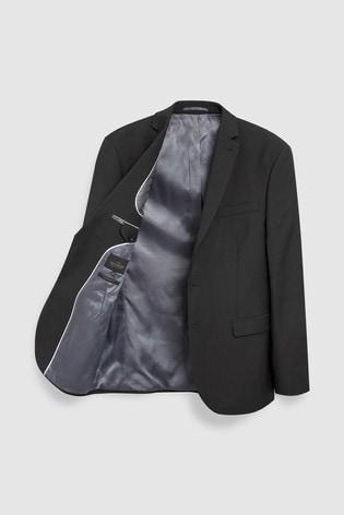 Black Regular Fit Signature Suit: Jacket