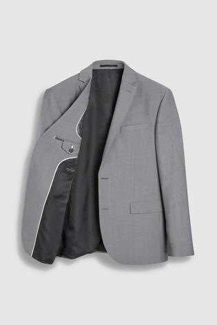 Light Grey Regular Fit Signature Suit: Jacket