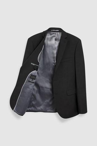 Black Slim Fit Signature Suit: Jacket