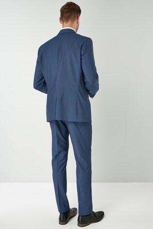 Blue Slim Fit Signature Suit: Jacket