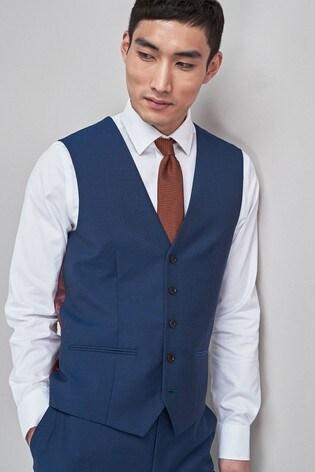 Bright Blue Signature Suit: Waistcoat