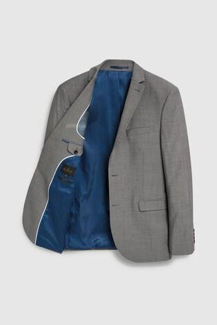 Light Grey Slim Fit Signature Suit: Jacket