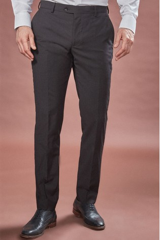 Black Slim Fit Signature Suit: Trousers