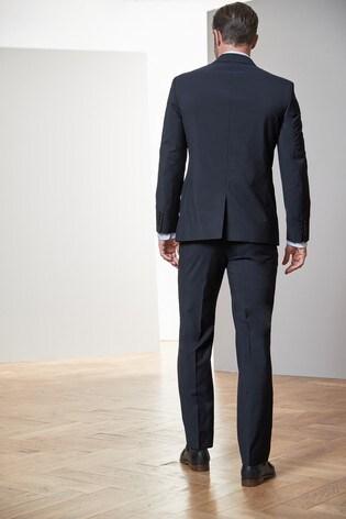 Navy Regular Fit Signature Suit: Jacket