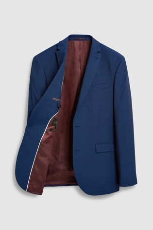 Bright Blue Regular Fit Signature Suit: Jacket