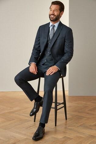 Blue Jacket Signature Puppytooth Slim Fit Suit