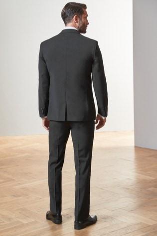 Black Regular Fit Signature Tuxedo Suit: Jacket