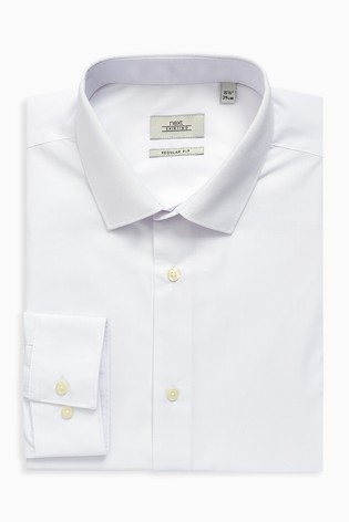 White Regular Fit Single Cuff Shirts Three Pack