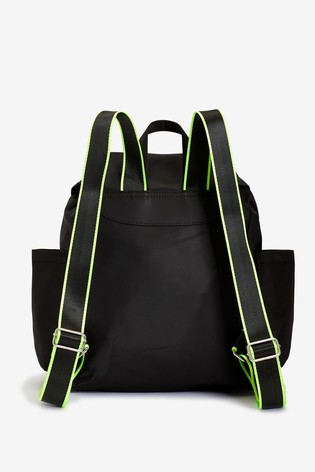 Black Recycled Polyester Rucksack