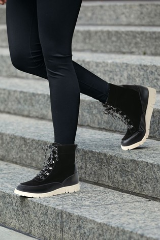 Black Forever Comfort® With Motion Flex EVA Lace-Up Ankle Boots