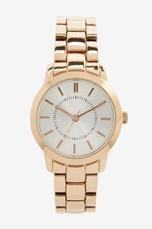 Rose Gold Tone Simple Bracelet Watch