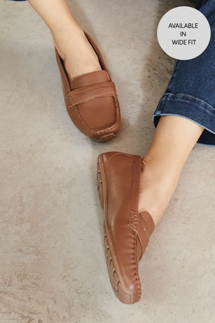 Tan Leather Forever™ Driver Shoes