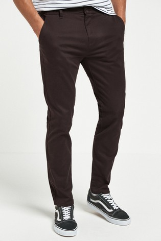 Deep Plum Slim Fit Stretch Chinos