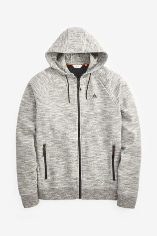 Grey Zip Through Hoody Sports Jersey