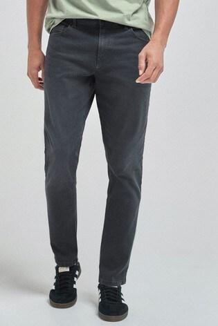 Dark Grey Slim Fit Jeans With Stretch