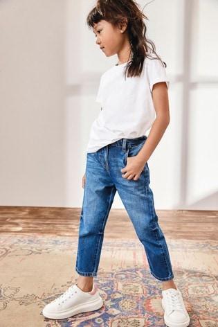 Bright Blue Gathered Waist Jeans (3-16yrs)
