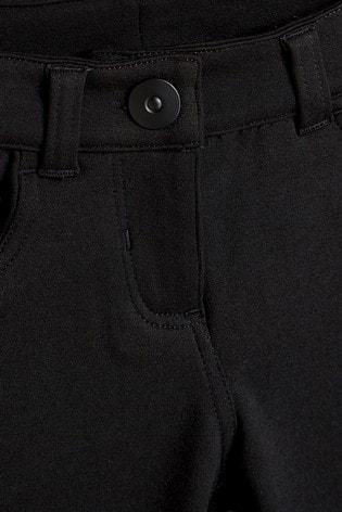 Black Jersey Skinny Trousers (3-16yrs)