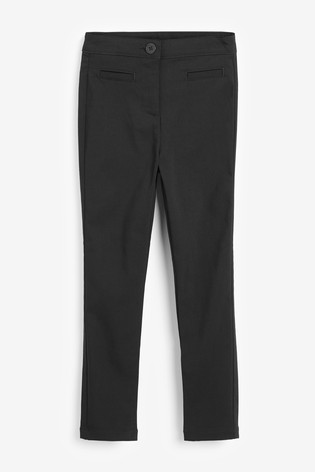 Black Skinny Stretch Trousers (3-16yrs)