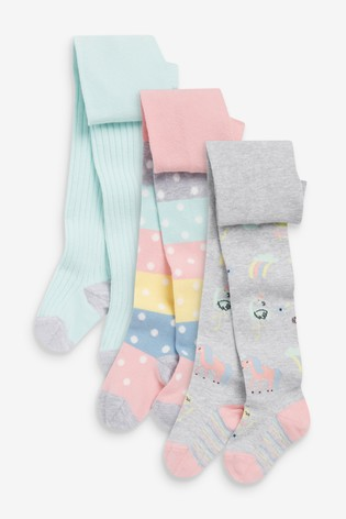 Multi Pastel 3 Pack Character Tights