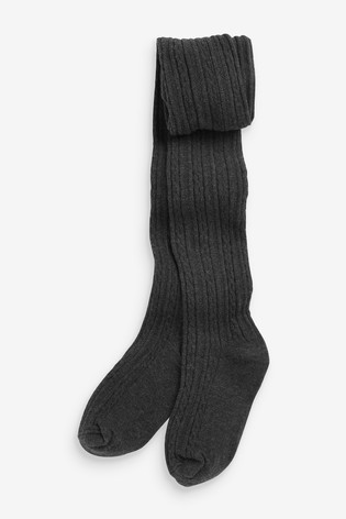 Charcoal Cable Tights