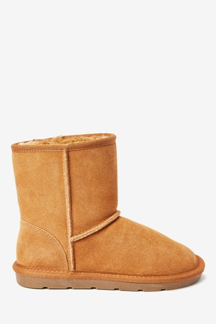 Tan Warm Lined Water Repellent Suede Pull-On Boots (Older)