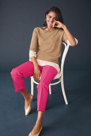 Pink Premium Tailored Joggers