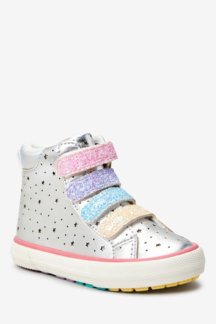 Silver Star High Top Trainers