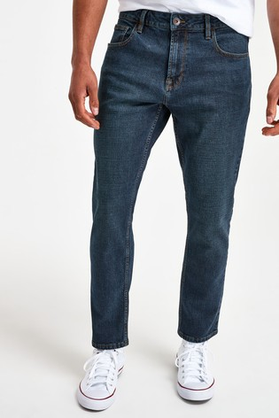 Vintage Wash Slim Fit Jeans With Stretch