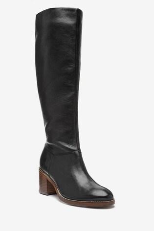 Black Forever Comfort® Soft Leg Knee High Boots