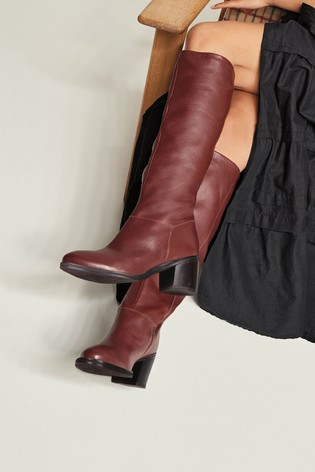 Burgundy Forever Comfort® Soft Leg Knee High Boots