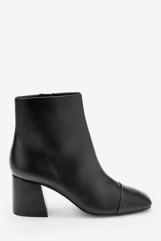Black Forever Comfort® Square Toe Ankle Boots