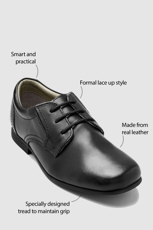 Yours Clothing Womens Plus Size Faux Leather Brogues in Extra Wide Fit